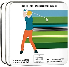 Parfémy, Parfumerie, kosmetika Tělové mýdlo v metalické nádobě Golf - Scottish Fine Soap In A Tin Golf