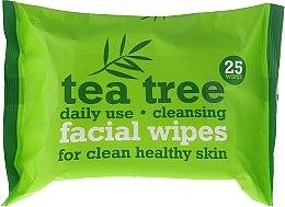 Parfémy, Parfumerie, kosmetika Čistící ubrousky na obličej 25 ks. - Xpel Marketing Ltd Tea Tree Facial Wipes For Clean Healthy Skin