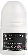 Parfémy, Parfumerie, kosmetika Bath House Cuban Cedar & Lime - Kuličkový deodorant