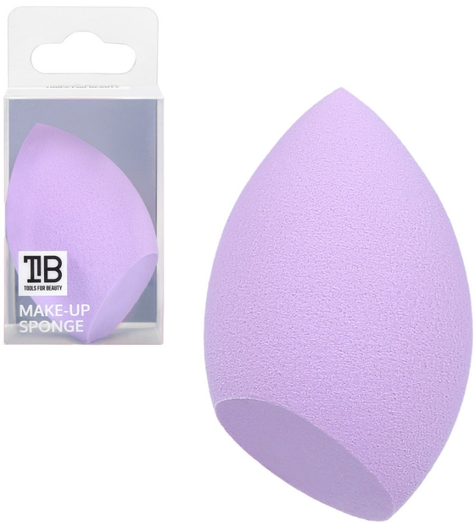 Houbička na make-up, šeříková - Tools For Beauty Olive Cut Makeup Sponge Purple