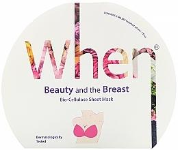 Parfémy, Parfumerie, kosmetika Zpevňující maska z biocelulózy na poprsí - When Beauty And The Breast Bio-Cellulose Mask