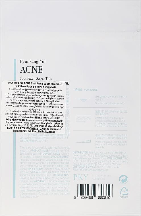 Náplasti proti akné - Pyunkang Yul Acne Spot Patch Super Thin — foto N2
