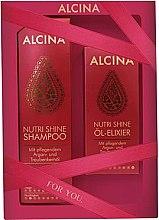 Parfémy, Parfumerie, kosmetika Sada - Alcina Nutri Shine Set (shm/250ml + elixir/50ml)