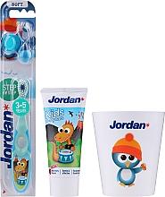 Parfémy, Parfumerie, kosmetika Sada Drak - Jordan Kids (toothpaste/50ml + toothbrush/1pc + cup)