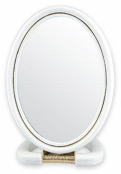 Kosmetické kapesní zrcátko, 5145, bílé - Top Choice