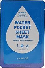 Parfémy, Parfumerie, kosmetika Hydratační látková maska na obličej - Laneige Water Pocket Sheet Mask Water Bank