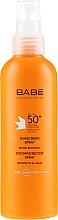 Parfémy, Parfumerie, kosmetika Opalovací sprej SPF 50 + - Babe Laboratorios Sunscreen Spray SPF 50+