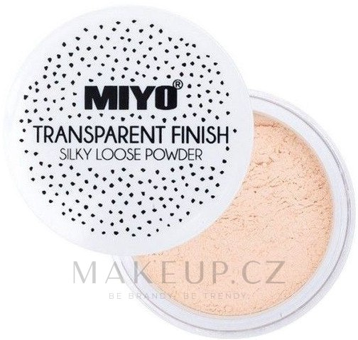 Sypký pudr - Miyo Transparent Finish Powder — foto Loose