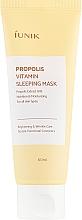 Parfémy, Parfumerie, kosmetika Obnovující noční maska s propolisem - iUNIK Propolis Vitamin Sleeping Mask
