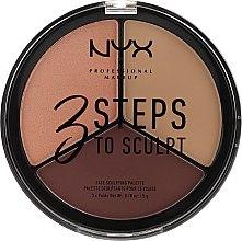 Parfémy, Parfumerie, kosmetika Paleta koretujících prostředků - NYX Professional Makeup 3 Steps To Sculpting Palette