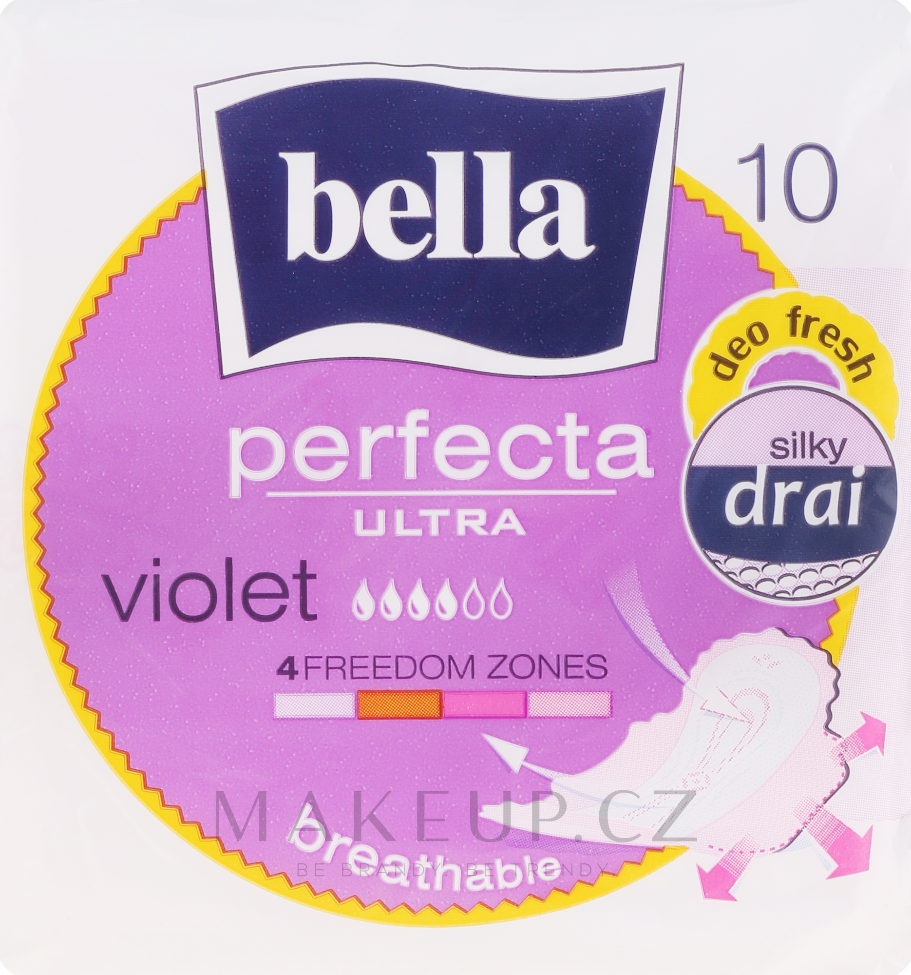 Vložky Perfecta Violet Deo Fresh Soft Ultra, 10 ks - Bella — foto 10 ks.