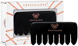 Parfémy, Parfumerie, kosmetika Kartáč pro masáž pokožky hlavy z obsidiánu - Crystallove