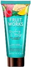 Parfémy, Parfumerie, kosmetika Tělový peeling Raspberry & Mango - Grace Cole Fruit Works Body Scrub Raspberry & Mango