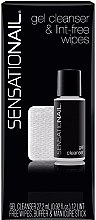 Parfémy, Parfumerie, kosmetika Sada - SensatioNail Gel Cleanser & Wipes (clinser/27.2ml+wipes+nail/buffer+manicure/stick)
