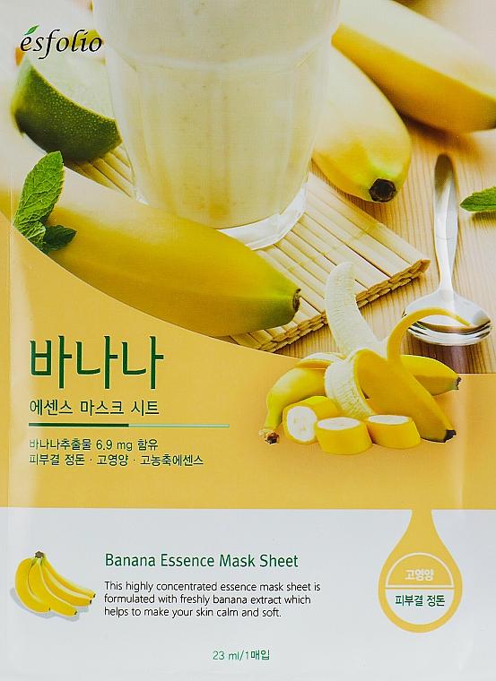 Plátýnková banánová maska - Esfolio Essence Mask Sheet — foto N1