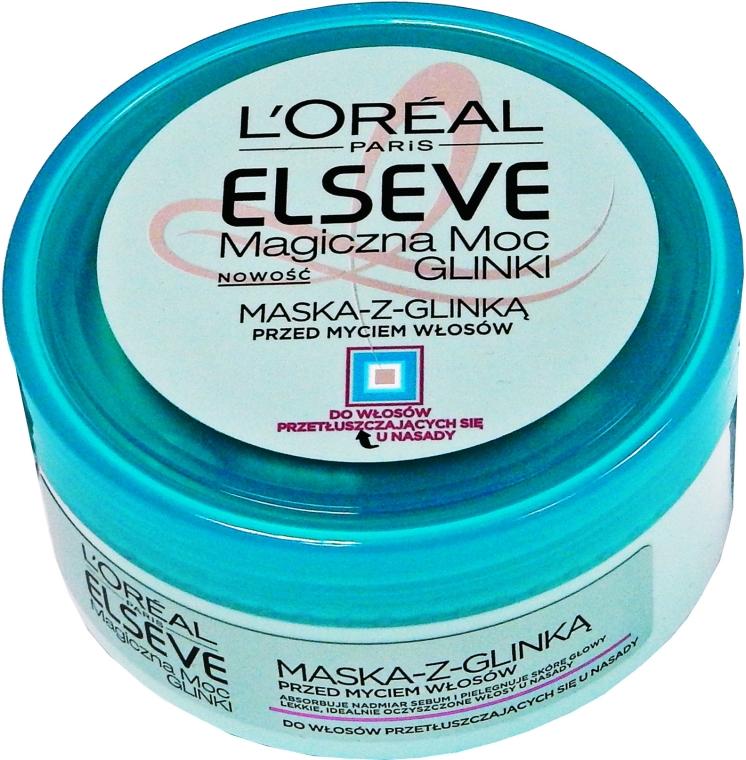 Maska pro normální a mastné vlasy - L'Oreal Paris Elseve Extraordinary Clay Mask — foto N1