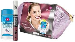 Parfémy, Parfumerie, kosmetika Sada - Dermacol (lip/colour/4,8 g + remover/120ml + bag)