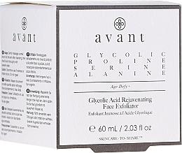 Parfémy, Parfumerie, kosmetika Omlazující peeling na obličej s kyselinou glykolovou - Avant Skincare Glycolic Acid Rejuvenating Face Exfoliator