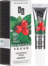 Parfémy, Parfumerie, kosmetika Oční krém se šípkem - AA Cosmetics Bio Natural Vegan Eye Contour Cream Rosehip