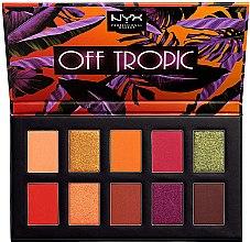 Parfémy, Parfumerie, kosmetika Paleta stínů - NYX Professional Off Tropic Shadow Palette