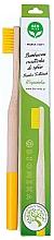 Parfémy, Parfumerie, kosmetika Bambusový zubní kartáček, měkký, žlutý - Biomika Natural Bamboo Toothbrush