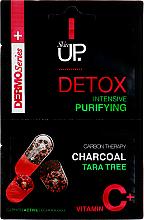 Parfémy, Parfumerie, kosmetika Intenzivně čistící pleťová maska s aktivním uhlím, stromem tara a vitamínem C - Verona Laboratories DermoSerier Skin Up Face Mask