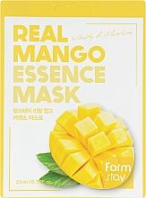 Parfémy, Parfumerie, kosmetika Plátýnková pleťová maska s mangovým extraktem - FarmStay Real Mango Essence Mask