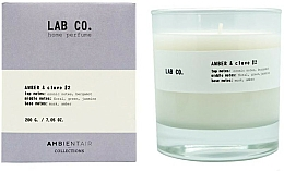 Parfémy, Parfumerie, kosmetika Aromatická svíčka - Ambientair Lab Co. Amber & Clove
