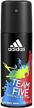 Parfémy, Parfumerie, kosmetika Adidas Team Five - Deodorant
