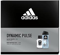 Parfémy, Parfumerie, kosmetika Adidas Dynamic Pulse - Sada (edt/50ml + sh/gel/250ml)