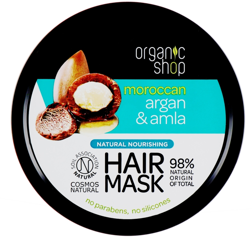 Vyživující maska na vlasy - Organic Shop Argan And Amla Hair Mask — foto N1
