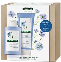 Parfémy, Parfumerie, kosmetika Sada - Klorane Flax Fiber (shm/200ml + cond/200ml)