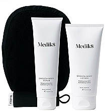 Parfémy, Parfumerie, kosmetika Sada - Medik8 Smooth Body Exfoliating Kit (scr/150ml+lot/200ml+glove)