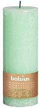 Parfémy, Parfumerie, kosmetika Válcová svíčka, zelená, 190x68 mm - Bolsius