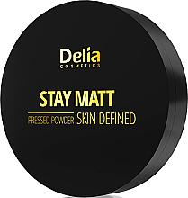 Parfémy, Parfumerie, kosmetika Kompaktní matující pudr - Delia Stay Matt Skin Defined Pressed Powder