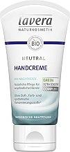 Parfémy, Parfumerie, kosmetika Krém na ruce - Lavera Neutral Green Ultra Sensitive Complex Hand Cream