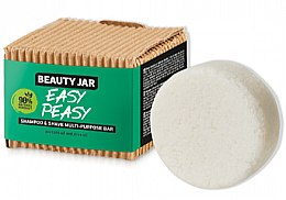Parfémy, Parfumerie, kosmetika Mýdlo na vlasy a holení - Beauty Jar Easy Peasy Shampoo & Shave Multi-Purpose Bar