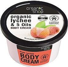 """Parfémy, Parfumerie, kosmetika Tělový krém """"Růžové liči"""" - Organic Shop Body Cream Organic Lichee & Oils"""