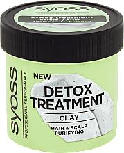 Parfémy, Parfumerie, kosmetika Detoxikační maska na vlasy s hlínou - Syoss Detox Treatment Clay