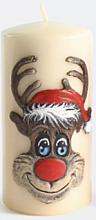 Parfémy, Parfumerie, kosmetika Dekorativní svíčka Rudolf, krémová, 7x14 cm - Artman Christmas Candle Rudolf