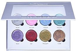 Parfémy, Parfumerie, kosmetika Paletka třpytivých stínů na make-up - Bellapierre 8 Color Pro Glitter Eye Palette