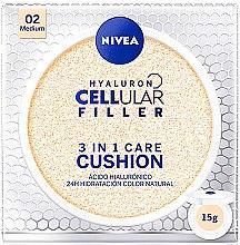 Parfémy, Parfumerie, kosmetika Pečující make-up v houbičce 3 v 1 - Nivea Hyaluron Cellular Filler 3in1 Care Cushion SPF 15