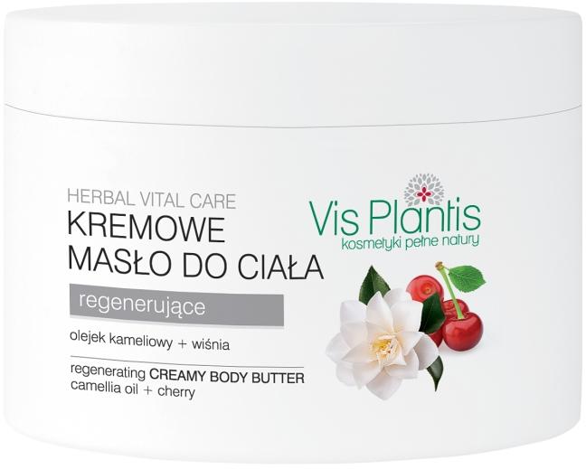 Krémový olej na tělo - Vis Plantis Herbal Vital Care Creamy Body Butter Camellia Oil and Cherry