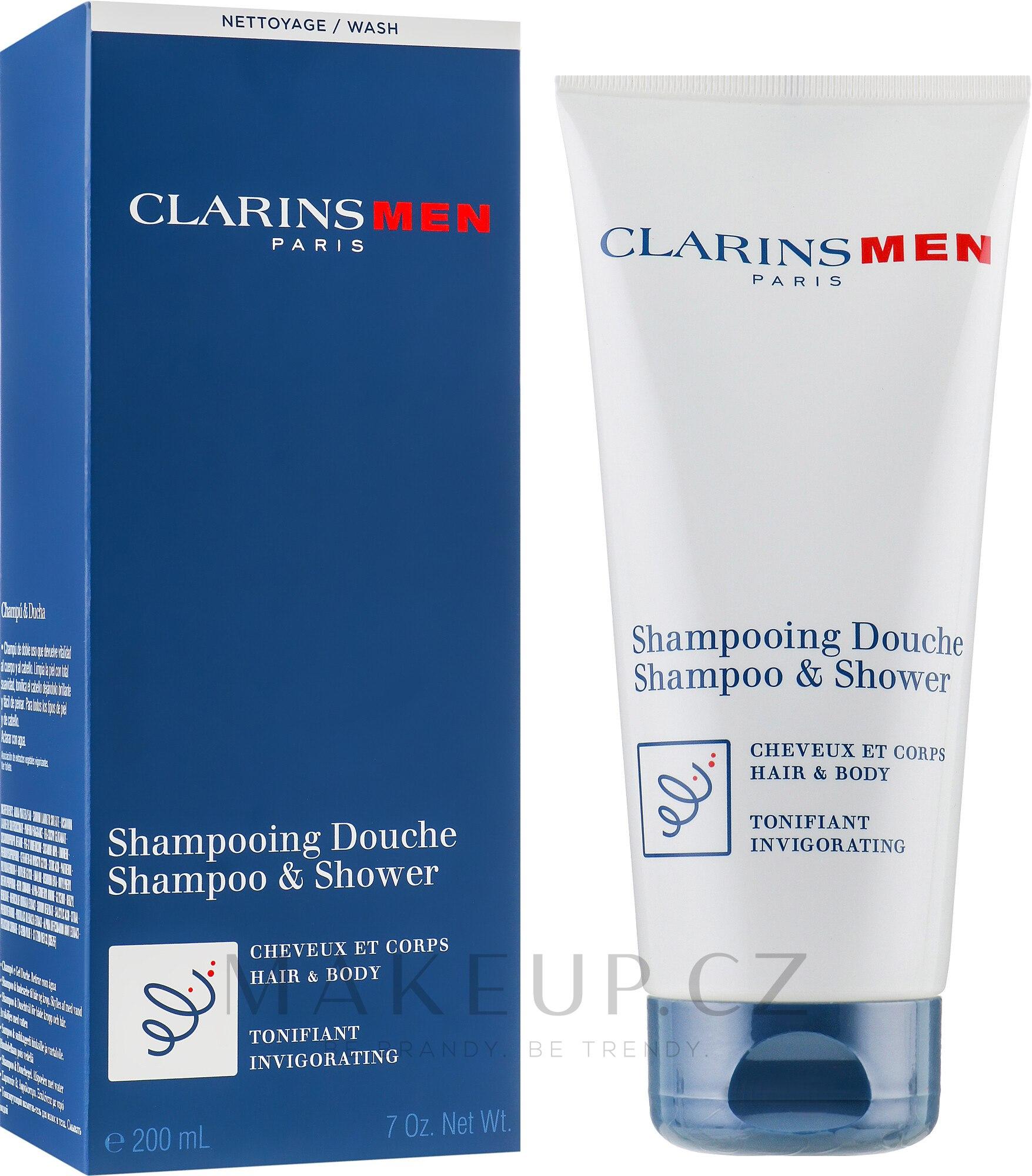 Tonizující šampon na tělo a vlasy - Clarins Men Shampoo & Shower — foto 200 ml