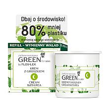 Parfémy, Parfumerie, kosmetika Výživný noční krém s hráškem na obličej, krk a dekolt - Floslek Green For Skin Nourishing Night Cream Refill