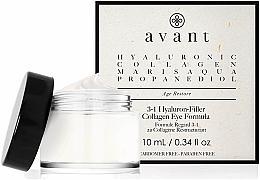 Parfémy, Parfumerie, kosmetika Oční krém 3v1 s kyselinou hyaluronovou - Avant Skincare 3-1 Hyaluron-Filler Collagen Eye Formula
