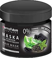 Parfémy, Parfumerie, kosmetika Vlasová maska s aktivním uhlím - DermoFuture Hair Mask With Activated Carbon