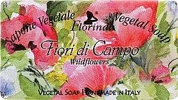 """Parfémy, Parfumerie, kosmetika Mýdlo přírodní """"Polní květiny"""" - Florinda Sapone Vegetale Vegetal Soap Wild Flowers"""