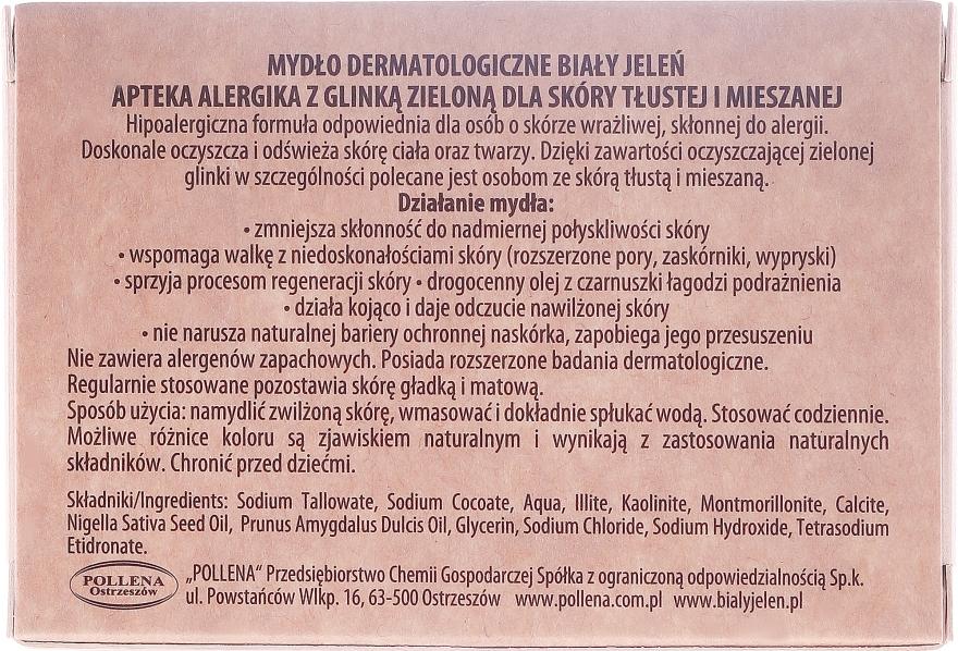 Zelené jílové dermatologické mýdlo - Bialy Jelen Apteka Alergika Soap — foto N3
