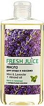 Parfémy, Parfumerie, kosmetika Pečující a masážní olej Máta a levandule + mandlový olej - Fresh Juice Energy Mint&Lavender+Almond Oil